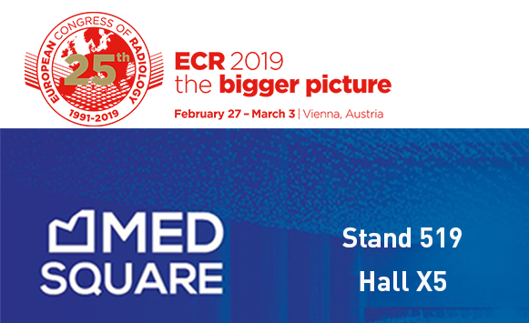 Medsquare at the European Congress of Radiology (ECR 2019): The new features of RDM's Patient Dose Monitoring solution